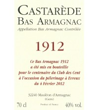 Étiquette personnalisée -70CL - ARMAGNAC CASTARÈDE - 1966
