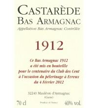 Étiquette personnalisée -70CL - ARMAGNAC CASTARÈDE - 1952