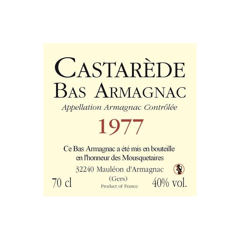 Etiquette Personnalisée Armagnac Castarède